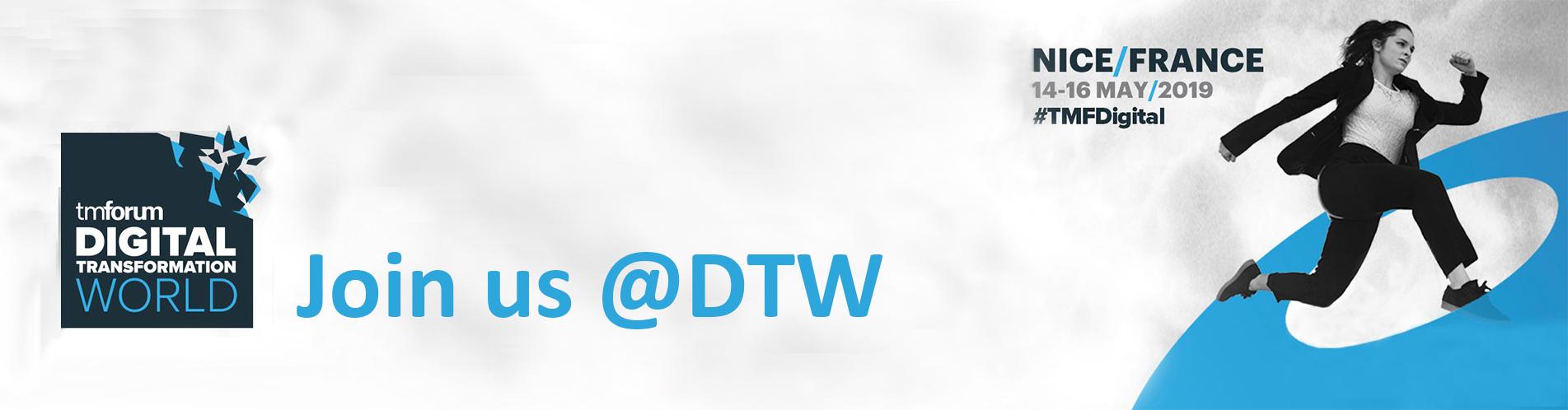 Join us at Digital Transformation World